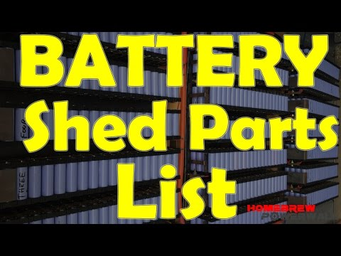 18650 Battery Shed Component Lists