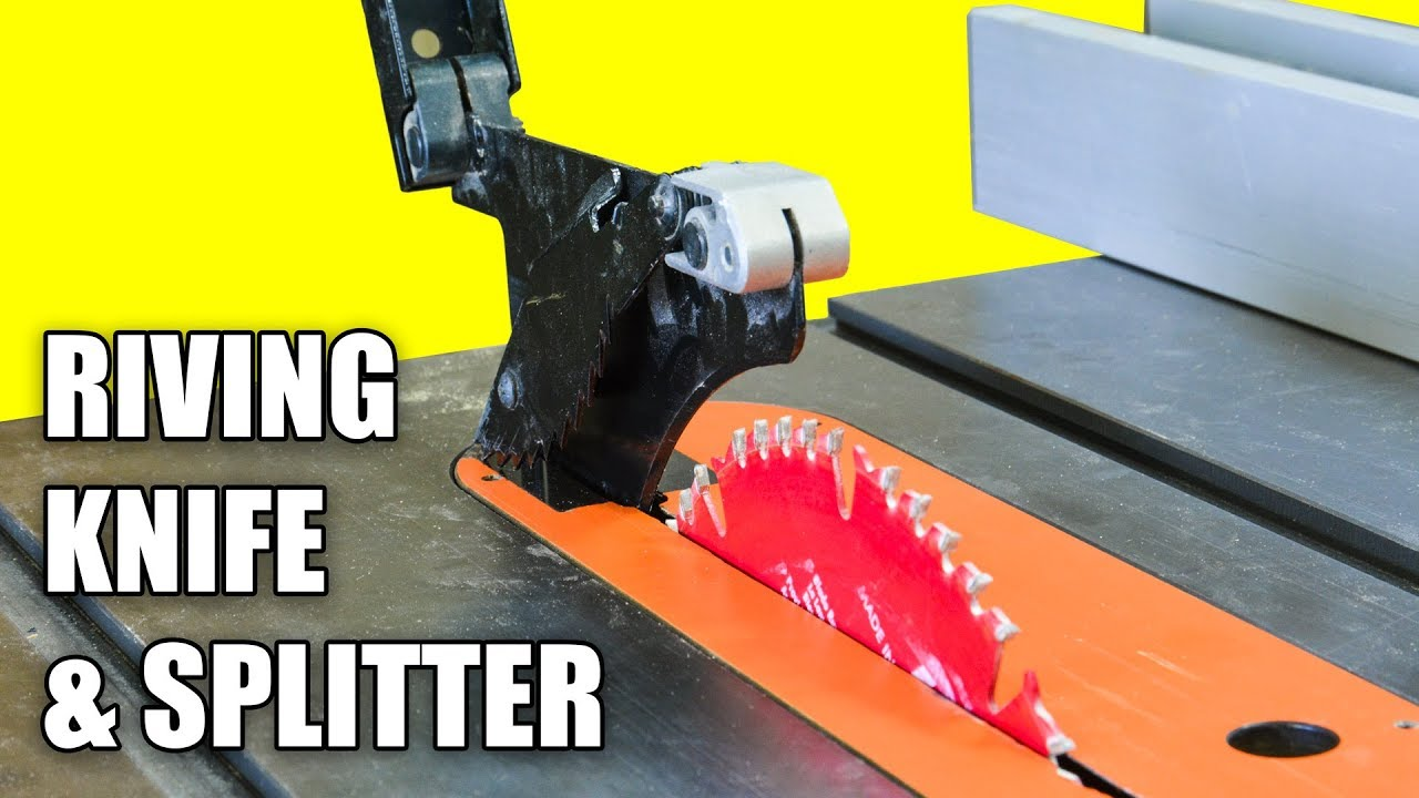 Table Saw Riving Knife / Splitter Set-up and Alignment ...