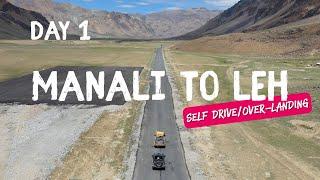 Manali to Leh on #Thar2020 | Over-landing/Camping at Jispa - Day 1 | Ladakh Travel Film