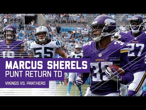 Marcus Sherels 48-Yard Punt Return TD!   Vikings vs. Panthers   NFL