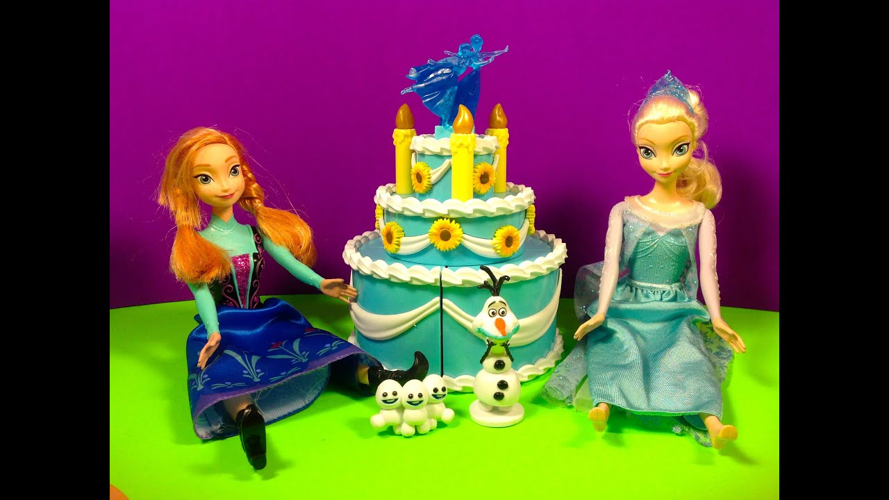DISNEY FROZEN ANNA BIRTHDAY CAKE PLAY SET YouTube