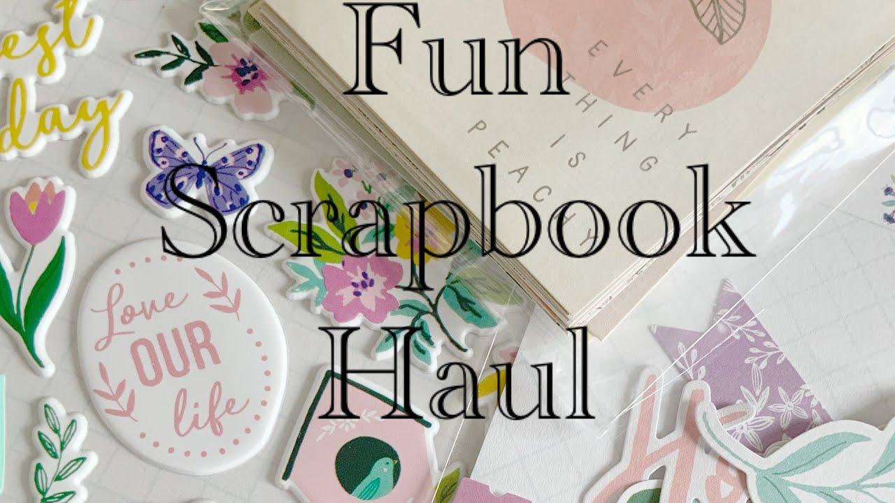 Scrapbook.com Haul & Mini Tuesday Morning Scrapbook Haul Crafty Haul