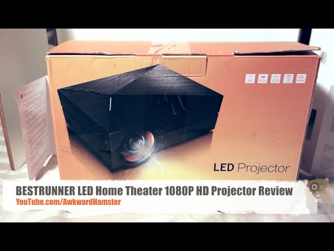BESTRUNNER LED Home Theater 1080P HD Projector Review
