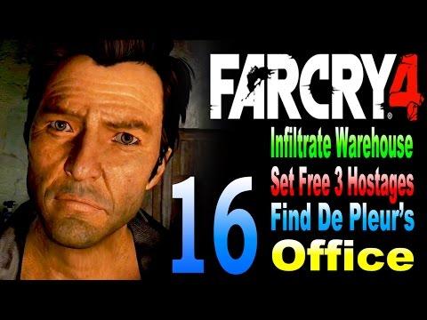 Far Cry 4 - Infiltrate Warehouse / Set Free 3 Hostages / Find De Pleurs Office Part 16