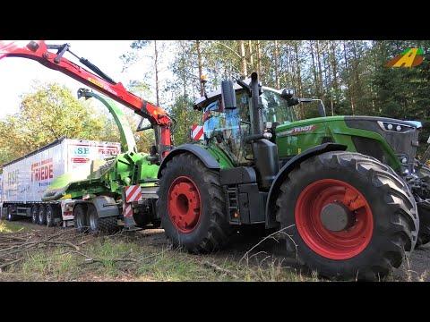 Neuer Fendt 942 Vario Jenz Holzhacker Energieholz hckseln Holzernte Forstwirtschaft wood chipper