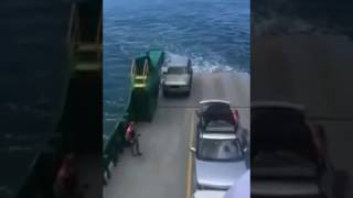 Unsecured Car Lost at Sea After Rolling Off Ferry