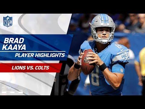 Every Brad Kaaya Pass Against Indianapolis | Lions vs. Colts | Preseason Wk 1 Player Highlights
