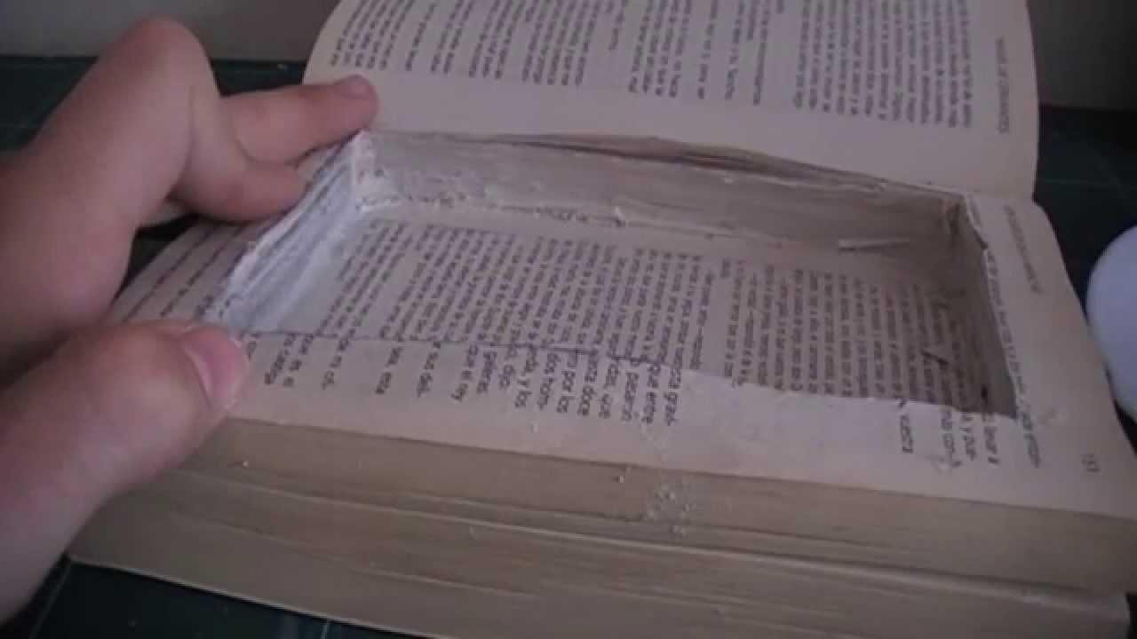 Como hacer un escondite secreto en un libro youtube - Escondites secretos en casa ...