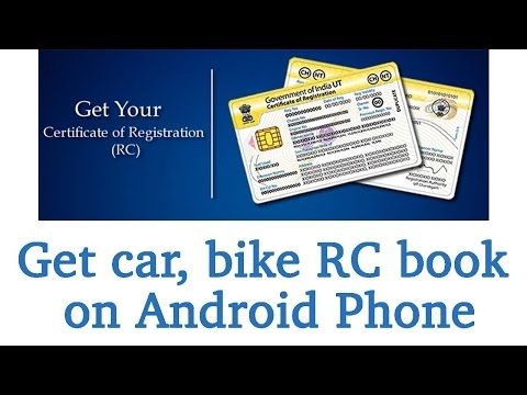 #DA31 How To Get Vehicle RC book on mobile just from vehicle number