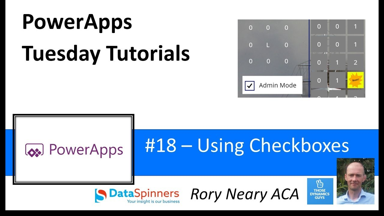 PowerApps Tuesday Tutorials #18 Using Checkboxes