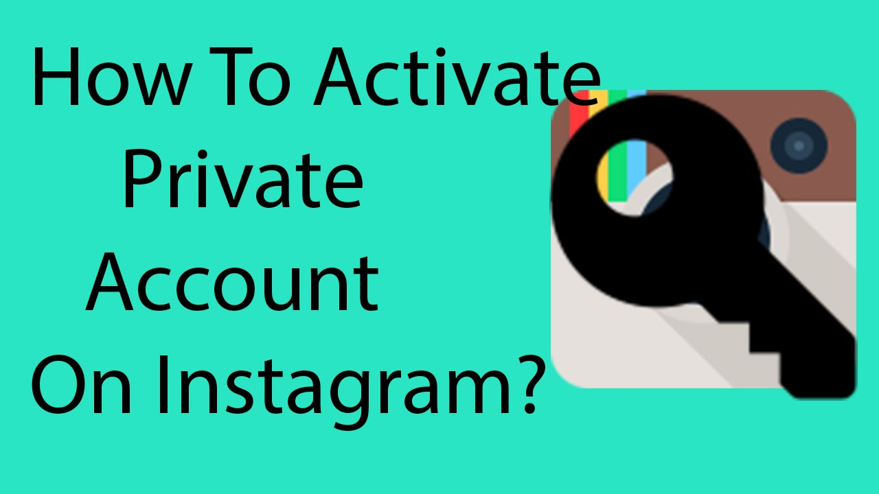 how to make your account on instagram private