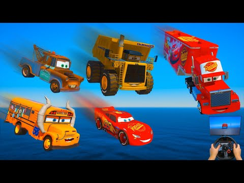 Cars Party Lightning McQueen Truck Mack Tow Mater Miss Fritter Colossus XXL | Challenge Friends |