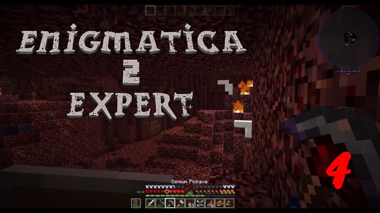 Enigmatica 2 Expert: The Nether, Manyullyn, Steel & Machine Frames!!  Episode 4!