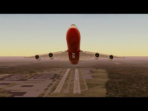 Boeing B747 - 8 takeoff from KLAX to KSAN