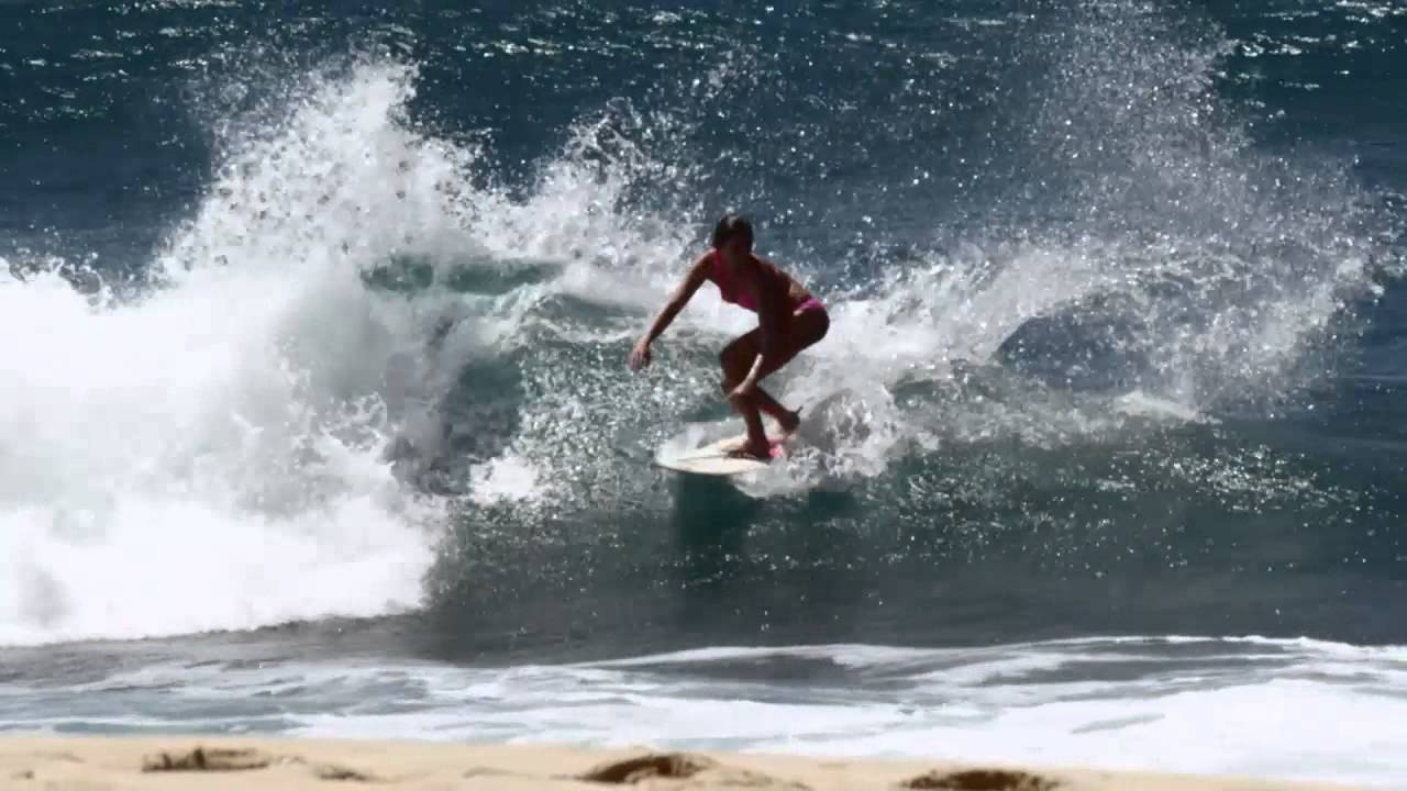 Adam Glick and Anastasia Ashley Surfing and cooking on the