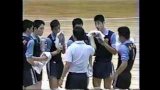 深谷高校バレー部全国初制覇 1983年総体(静岡)3/5