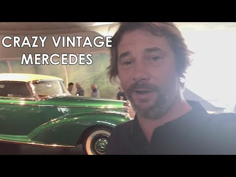 Jay with rare Mercedes Benz 300S before Stuttgart show