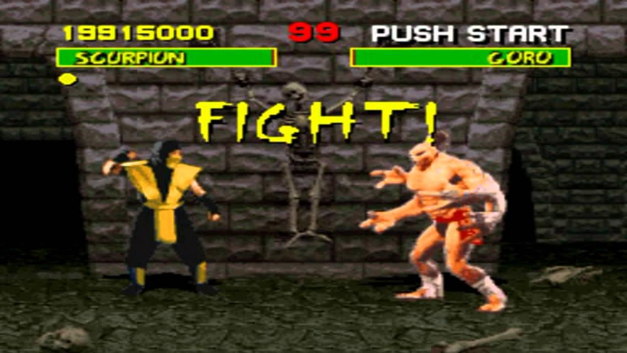 Mortal Kombat 1 Playthrough (Super Nintendo) - SCORPION VS GORO - YouTube