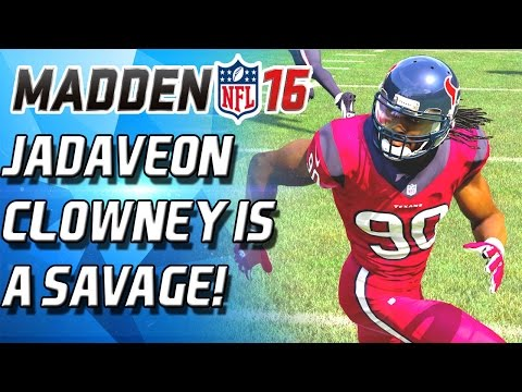 HARDEST HITTING TEAM EVER! JADEVEON CLOWNEY IS A SAVAGE!  - Madden 16 Ultimate Team