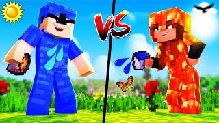 Minecraft - WATER armor vs LAVA armor
