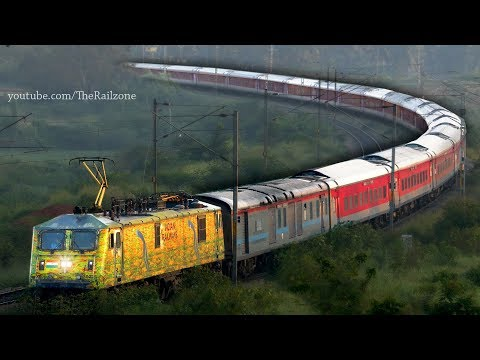 Rarest WAP7 Rajdhani Express | Indian Railways (Duronto WAP7)