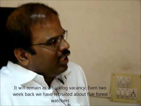The DFO, Sathyamangalam, talks about tribal employement