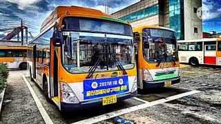 울산시내버스 안내방송 교통카드 하차 태그