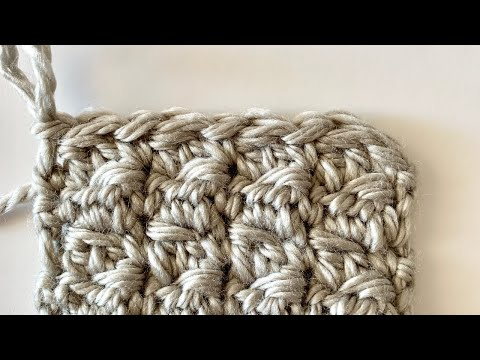 Double Crochet 2 Together (Dc2tog) Cluster with SC