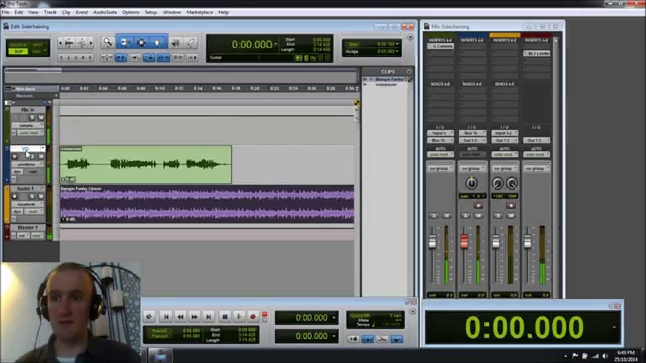 Pro Tools Tip - sidechain compressing music to make voiceovers sound better