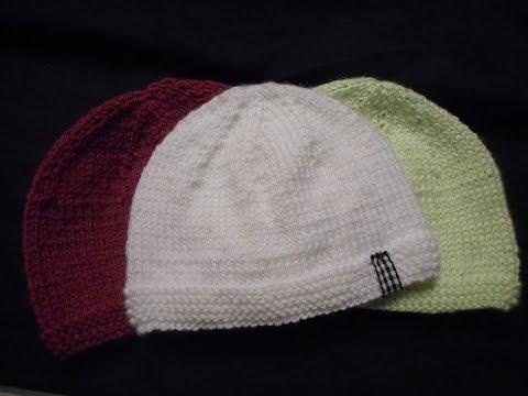 tuto tricot bonnet bébé - YouTube dfa99685717
