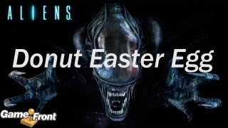 Aliens: Colonial Marines - Aliens Donut Easter Egg
