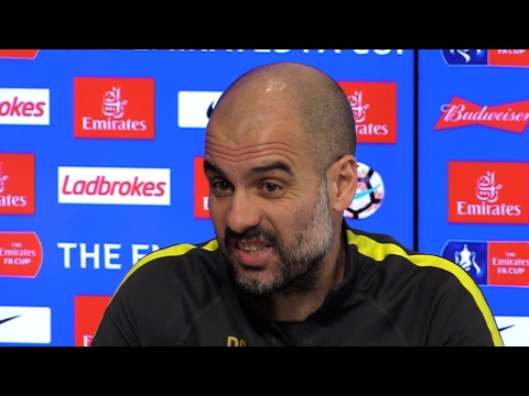 Pep Guardiola Full Pre-Match Press Conference - Huddersfield Town v Manchester City - FA Cup