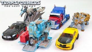 Transformers 5 TLK Autobot Optimus Prime Bumblebee Drift Sqweeks Slug Steelbane Truck Car Robot Toys