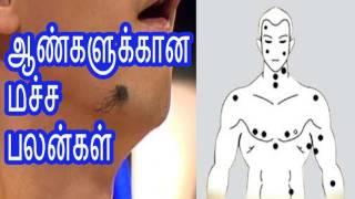 ஆண்களுக்கான மச்ச பலன்கள் macha palangal for male in tamil