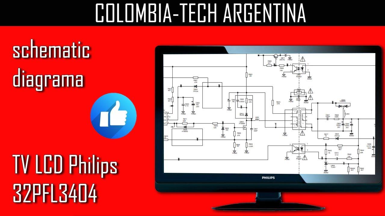 diagrama electrico de televisor philips
