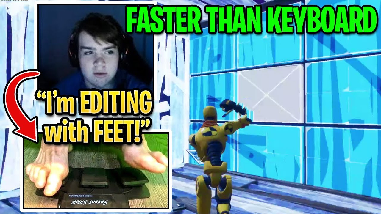 Mongraal Editing INSANELY FAST with FOOT CONTROLLER Fortnite! (Faster Than Keyboard)