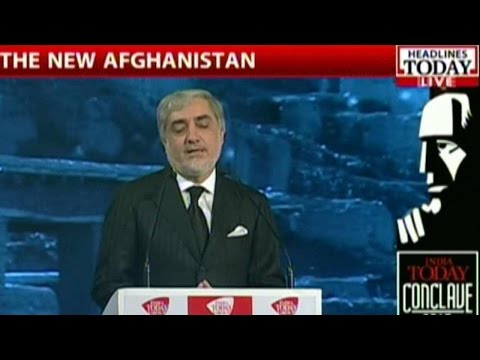 CEO Of Afghanistan Dr. Abdullah Abdullah At India Today Conclave