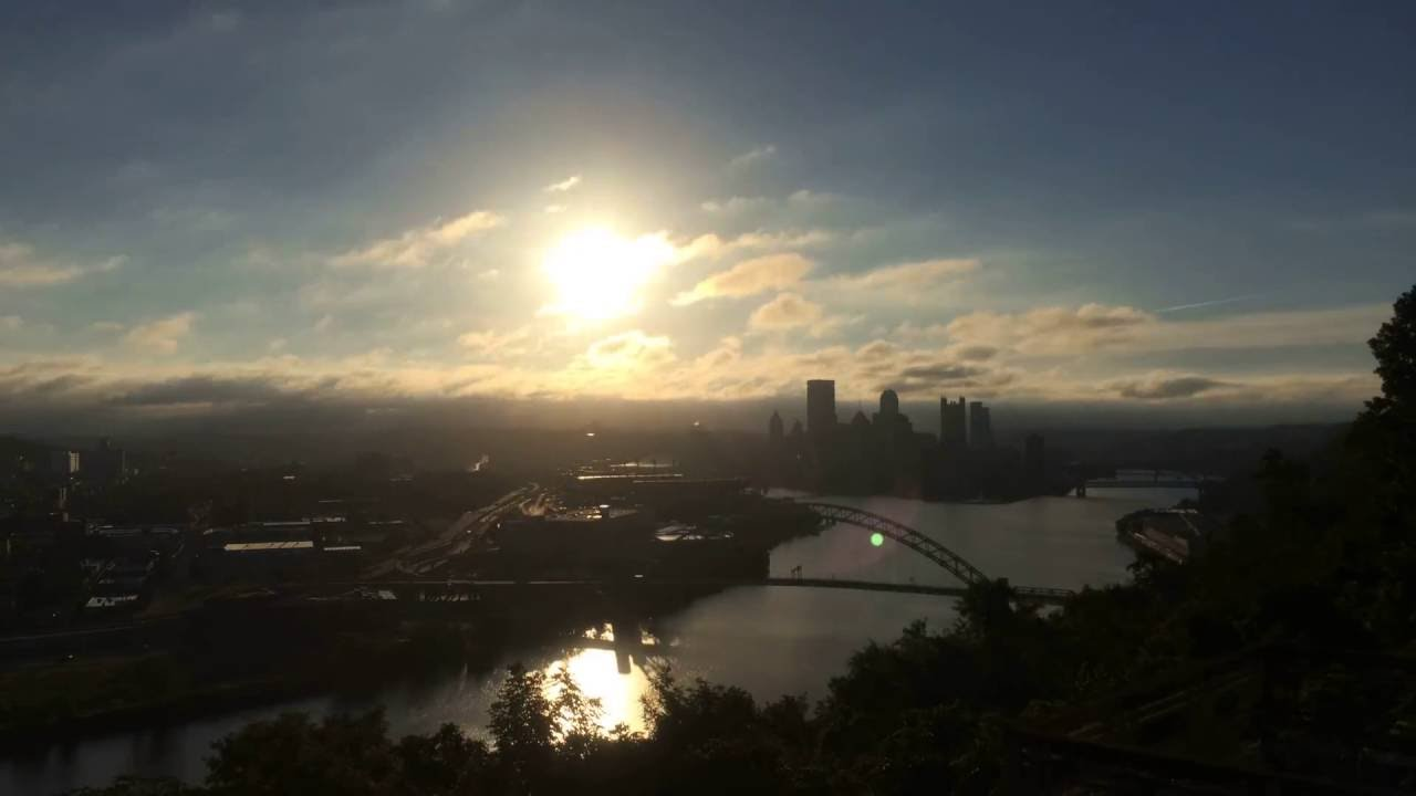 pittsburgh pennsylvania sunrise time lapse 9 11 16 youtube. Black Bedroom Furniture Sets. Home Design Ideas