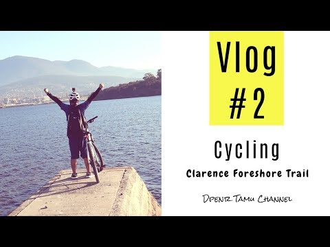 Cycling Vlog #2 || Clarence Foreshore Trail || Kangaroo Bay To Bellerive Beach