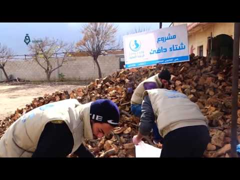 Damascus: Relief org. spreading the firewood over the residents of Qaboon neighborhood 9-1-2017