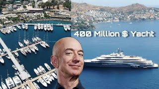 Amazon founder Jeff Bezos's Yacht in Bodrum Marina | 4K Drone music video