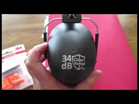 Clear Armor Safety Ear Muffs Review 34db Highest NRR Shooters Hearing Protection