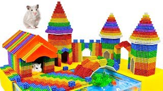 DIY - Build Hamster Castle Playground And Fish Pond With Magnetic Balls (Satisfying) - Magnet Balls