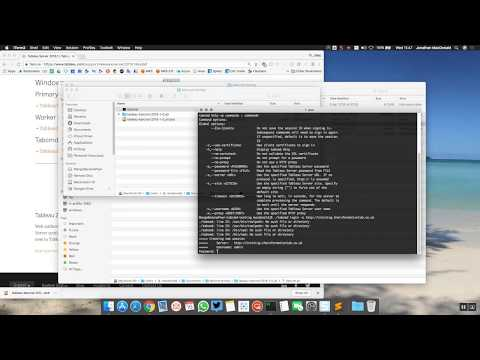 tabcmd natively on your Mac (updated for 10 5/2018 1) : tableau