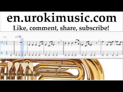 How to Play Tuba Star Wars - Imperial March Tabs Part#2 um-i352