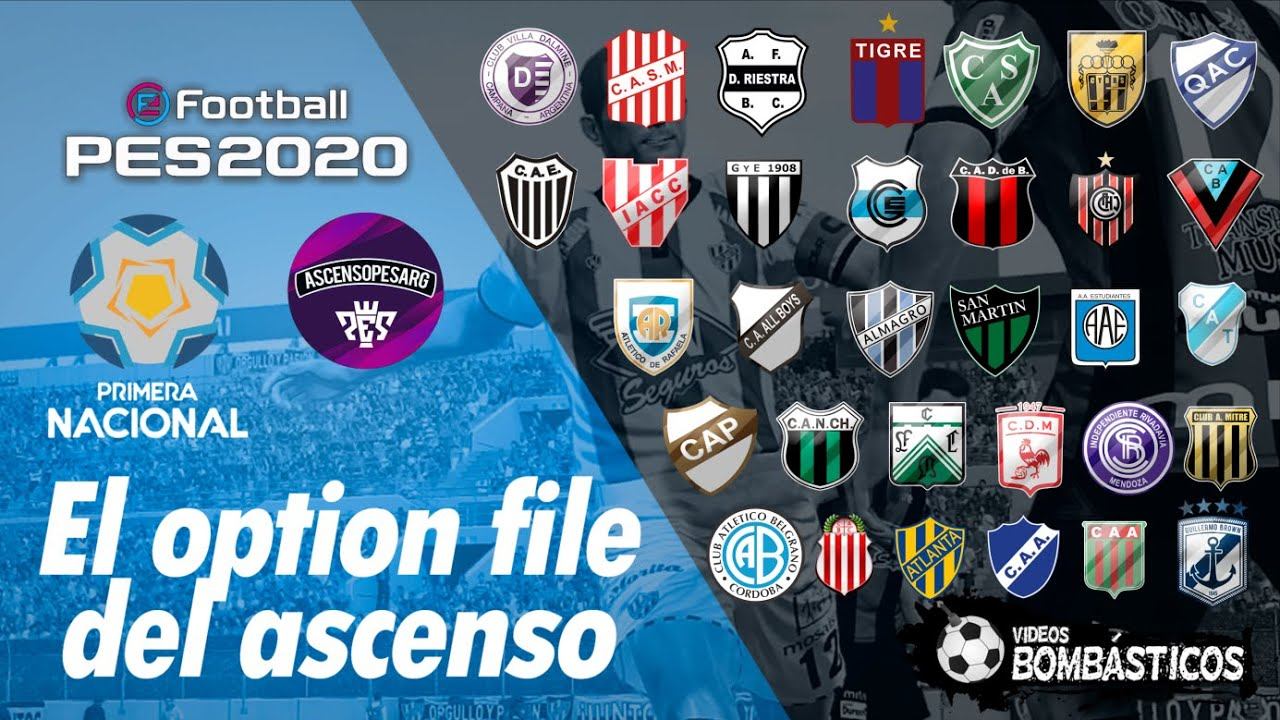 Link Option File Ps4 Primera Nacional Efootball Pes 2020 Ascensopesarg Youtube