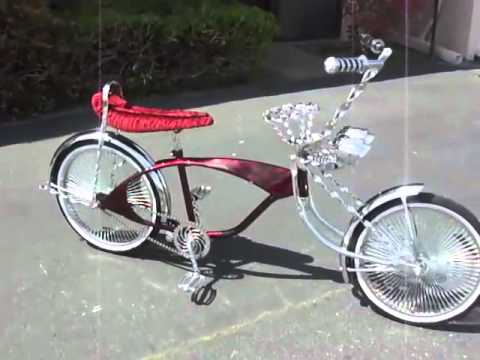 lowrider bicycle burgundy bondo