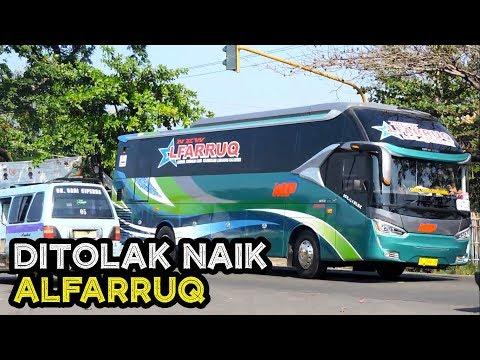 PARAH, PENUH BANGET! DITOLAK NAIK ALFARRUQ - Hunting bus Pelari Kuningan di Ciperna, Cirebon