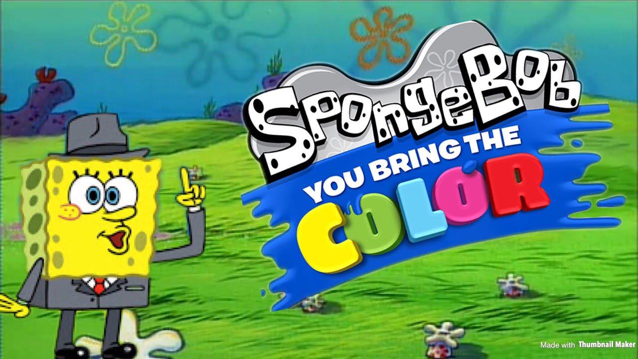 more spongebob you bring the color creations plus squid noir animations youtube. Black Bedroom Furniture Sets. Home Design Ideas