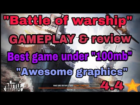 """Battle of warship tips and tricks//GAMEPLAY & full information//best game unde """"100mb""""//2017😊"""